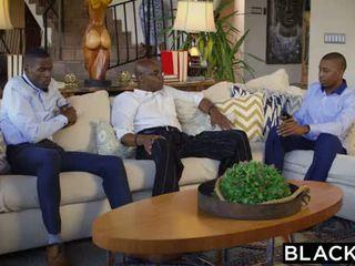 Blacked brunett adriana chechik takes trio av bbcs