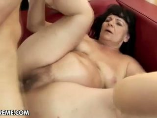 Lusty Grandmas: Granny with big panties with young boyfriend