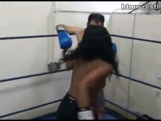 Femdom Boxing Beatdowns - Wimp Gets Do...