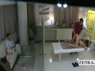 Subtitled japonsko šolarka idol hopeful rit masaža