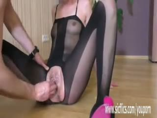 Roughly Fisting Her Teen Pussy Till Sh...