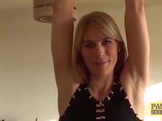 Punished Brit MILF Swallows Warm Cum of Her Big Dick.