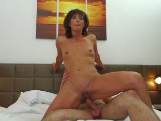 Hairy Mother Suck and Fuck Lucky Son, HD Porn ff