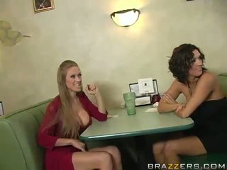 Abby Rode And Dylan Ryder Seduce A Waiter And Share His Python