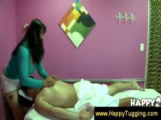 Oriental massage masseuse cfnm hand jobs wanking jerking hand job tugging Tug job bigtits bigboobs