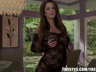 Emily addison strips von na ju bodysuit