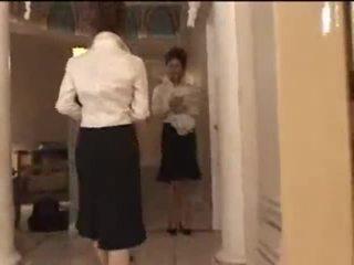 3 άσπρος/η κορίτσια σε ιαπωνικό μασάζ parlor