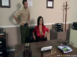 japānas, lielas krūtis, sekretāri