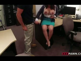 Busty wife pawns her pussy for the bail