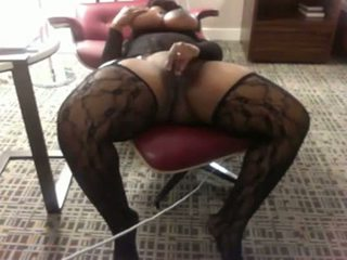Mature ebony from BlacksCrush.com plays with her pussy