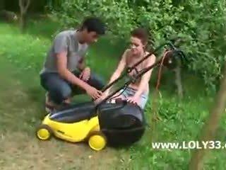 In the garden with my boyfriend