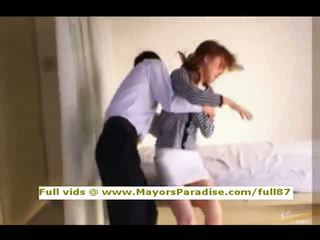 Akiho yoshizawa innocent cina gadis gets alat kemaluan wanita licked