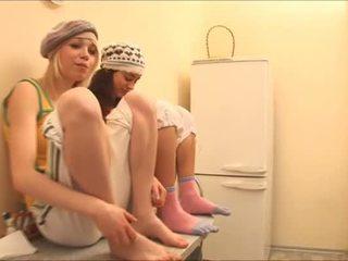 Mädels erhalten bereit für verdorben massage