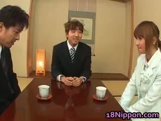 giapponese, bimbo, peloso