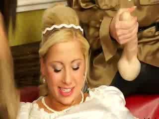 Bukkakke bride drench in semen