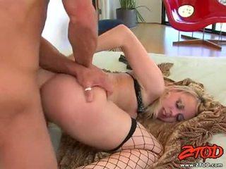 Hawt netted блонди annette schwarz getting pounded на її sugary прекрасний slit