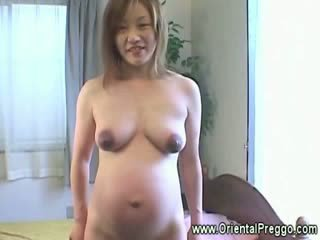 oriental preggers with dark areolas