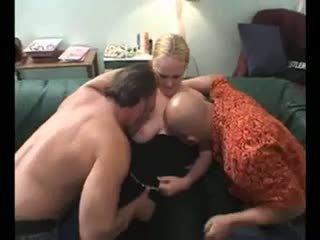 Blond BBW in Bisex Threesome