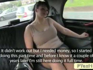 Vollbusig britisch amateur bangs fake taxi driver im öffentlich