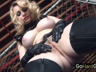 Aiden starr aiden แสดง เธอ ใหม่ ทาส the ropes