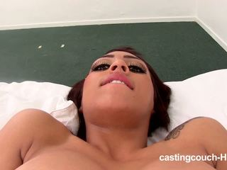 Bosomy Latina shows her skills on the Casting couch