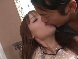Ayaka Fujikita fucked by two hunks in dirty trio