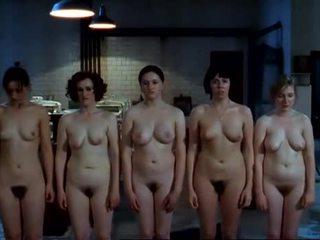 caucasien, gros seins, lesbienne