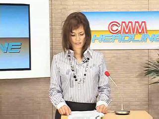 Nieuws anouncer facial op tv