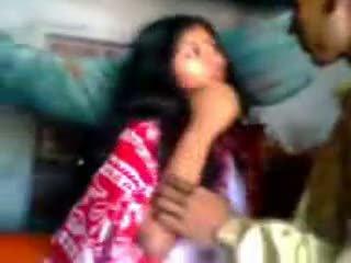 هندي newly متزوج guy trying zabardasti إلى زوجة جدا خجول