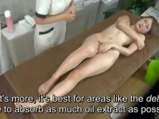 Subtitled enf cfnf japans lesbisch clitoris massage clinic