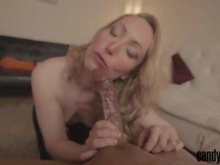 Overspel met een reusachtig bbc - slutty blondine vrouw