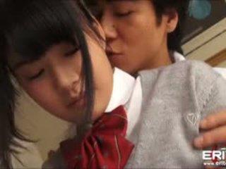 Supercute اليابانية تلميذة itsuka مارس الجنس و creampied