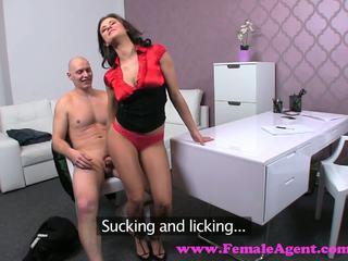 FemaleAgent. Impressive cumshot all over beautiful agents big breasts