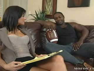 Naughty Brunette Babe Loves Getting Fucked By Big Black Cocks Video