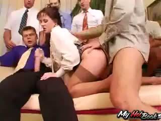 Brunette Anita Blue knows what turns men on and t