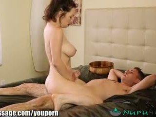 NuruMassage Cougar Stepmom gets Sons C...