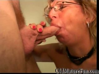 Mature lady with hard cock