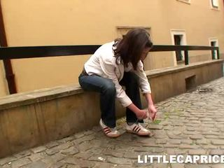 Little Caprice Hooks Up Around Some Guy At Tthis Person Street And Receives Him Home
