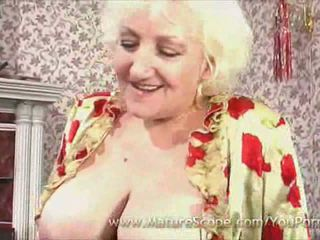 granny, big tits, stockings