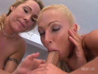 Seksuālā blondīne trijatā ar michael stefano