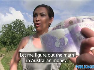 Publicagent stranded auzzie με μεγάλος βυζιά fucks για λεφτά