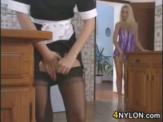 brunette, lesbian, fingering