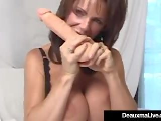 Busty Cougar Deauxma Squirts Her Pussy Juice.