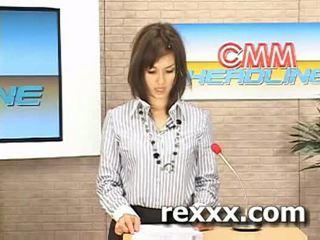 Nieuws reporter gets bukakke gedurende haar werk (maria ozawa bu