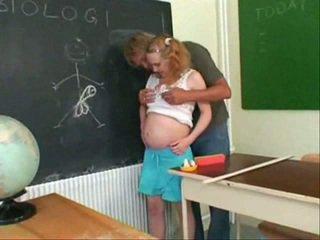 Grávida jovem grávida caralho
