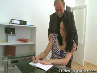 Tiffany the student gives way to her teacher's advances