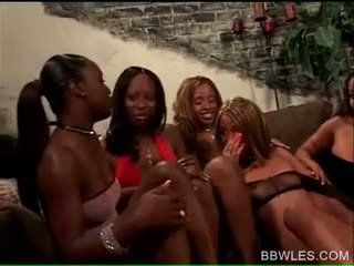 BBW Lesbian Tramps Fucking In Wild Bla...