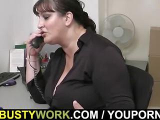 bbw, office sex, busty boss