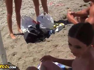 Petite Bikini College Girls On Beach