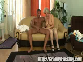 Old grandma gets fucked for her birthday